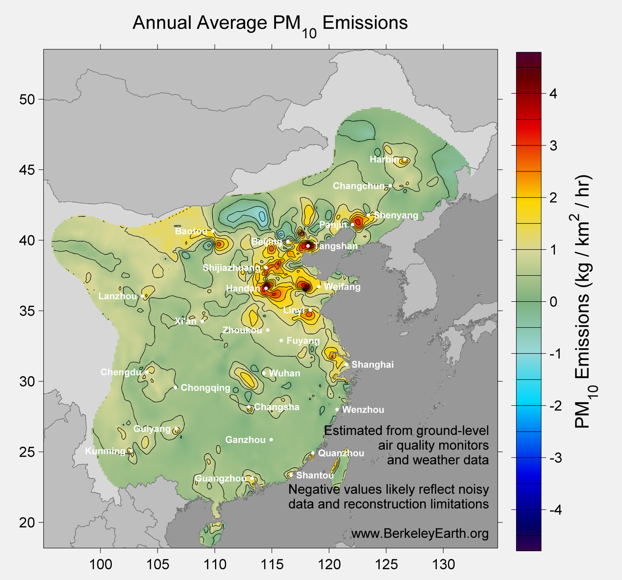 China_pm10_Average_Emission_Map