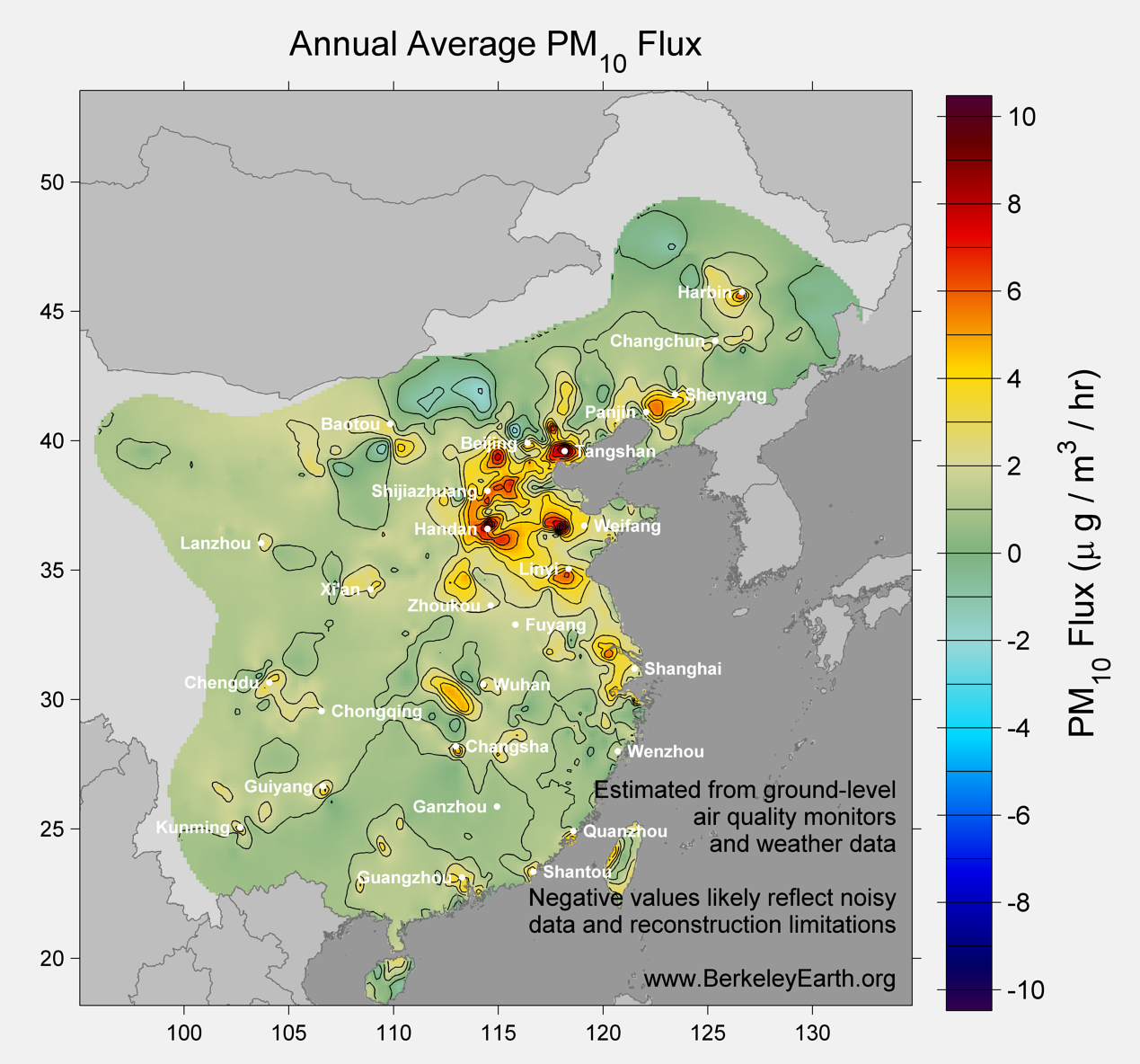 China_pm10_Average_Flux_Map