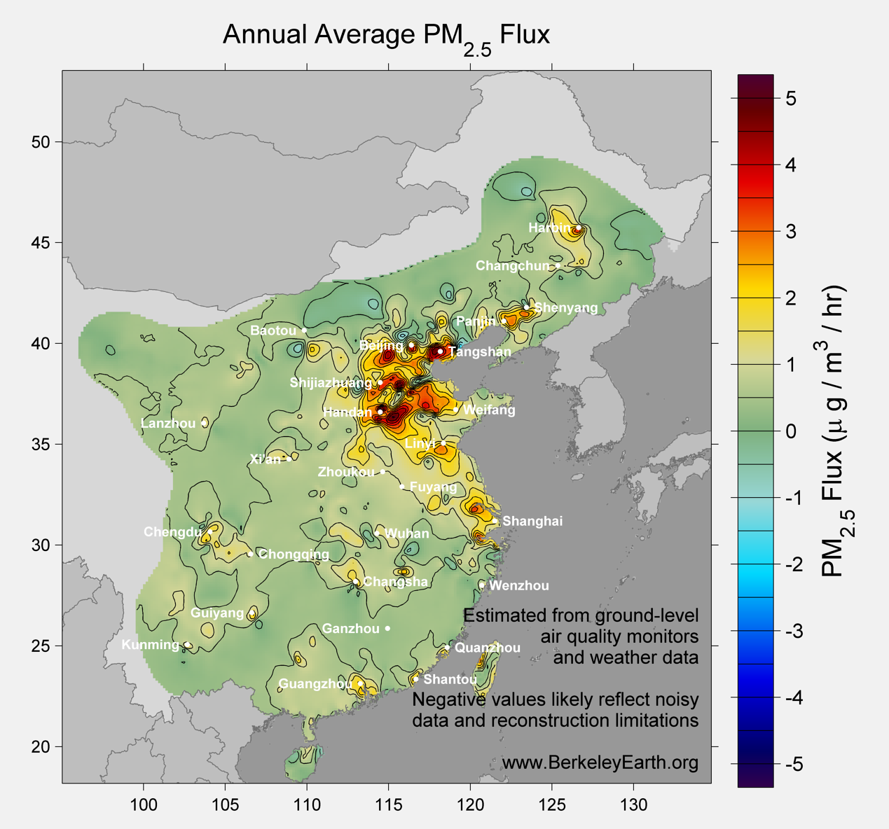 China_pm25_Average_Flux_Map