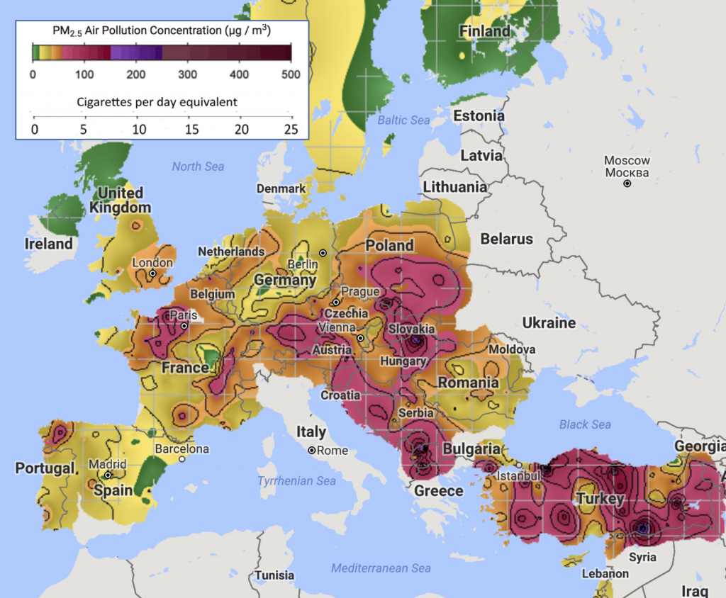 Europe air pollution