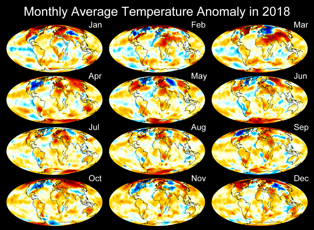 Monthly Temperature Anomaly Maps